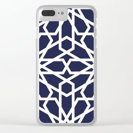 Navy Starburst Clear iPhone Case