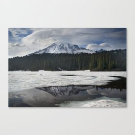 Mt. Rainier & Reflection Lake Canvas Print