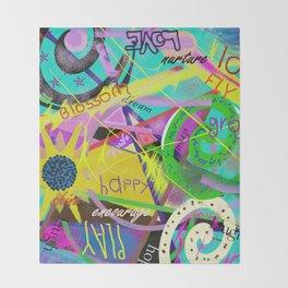happy graffitti Throw Blanket