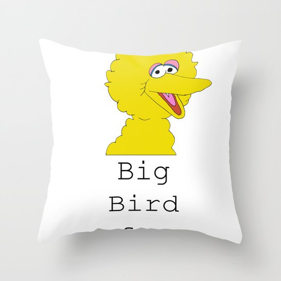 Big Bird for Obama!  Throw Pillow