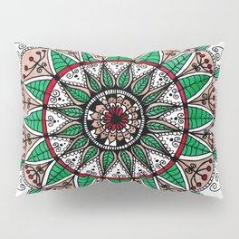 Leaf mandala Pillow Sham