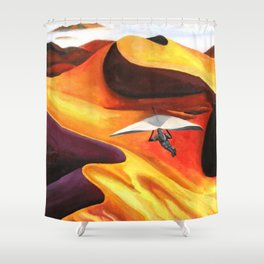 Hang-Glider Oil Painting Shower Curtain