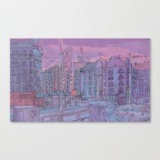 Budapest through pencil Canvas Print