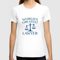 lawyer T-shirts featuring World's Greatest Lawyer by AmazingVision