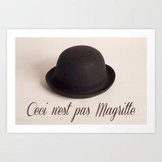 Magritte - Ceci n'est pas Magritte Art Print