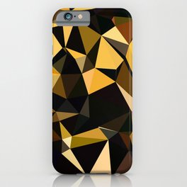 Completely Random Low Poly Abstract Art iPhone Case