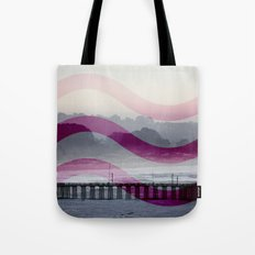 Waves and Pier Tote Bag
