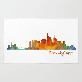 Frankfurt am Main, City Skyline, Citiscae art watercolor V1 Rug