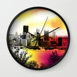 Burning Bridges Wall Clock