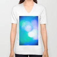 bokeh V-neck T-shirts featuring Bokeh II by Mauricio Santana