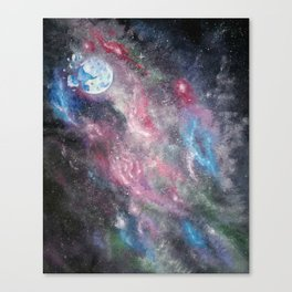 Space and the Moon Canvas Print
