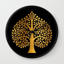 Bodhi Tree0110 Wall Clock