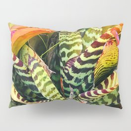 Exotic and Luxurious Tropical Hawaiian Plant Leaves Pillow Sham