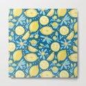 Lemon Pattern Blue by lavieclaire