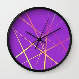 Laser Light Show - Purple Wall Clock