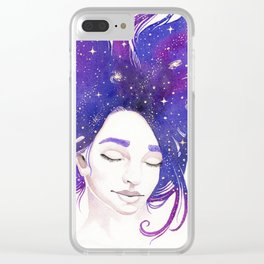 Mind Patterns III: Starstruck Clear iPhone Case