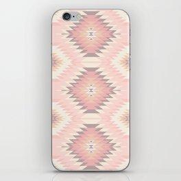 Pastel Pink & Coral Navajo iPhone Skin