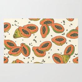 papaya pattern Rug