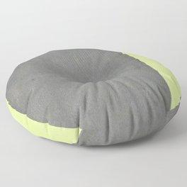 Chartreuse Concrete Floor Pillow