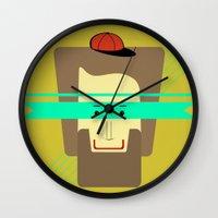 superhero Wall Clocks featuring current superhero by AmDuf