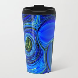 Abstract Blue with a Golden Glow Travel Mug