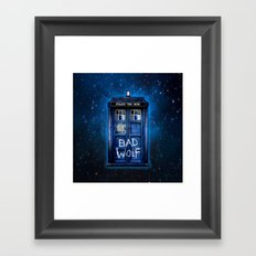Tardis doctor who with Bad wolf graffiti iPhone 4 4s 5 5s 5c, ipod, ipad case Framed Art Print