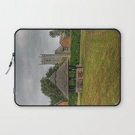 Woodbastwick village green and church Laptop Sleeve