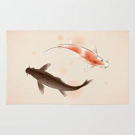 Yin Yang Koi fishes 001 Rug