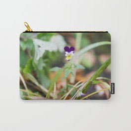Johnny Jump-Up-Flower 5 Carry-All Pouch