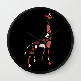 High Class Polka Dots Giraffe Wall Clock