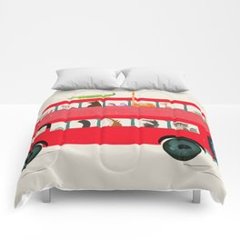 The big red bus Comforters