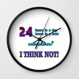 """Funny """"24 Beer In A Case"""" Joke Wall Clock"""