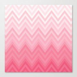 Fading Pink Chevron Canvas Print