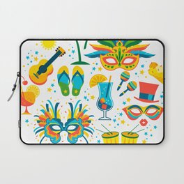 Colorful Brazilian Carnaval mandala Laptop Sleeve