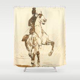 """Henri de Toulouse-Lautrec """"Amazone"""" Shower Curtain"""