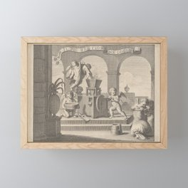 She gathers the fairest flower (Il più bel fior ne coglie), a group of six putti working together in Framed Mini Art Print
