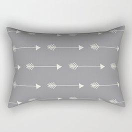 Neutral Grey Tribal Arrows Rectangular Pillow