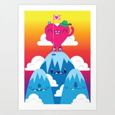 Love on Top Art Print