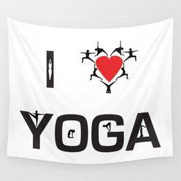 I heart Yoga Wall Tapestry