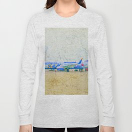 SunExpress Boeing 737-800. The smurfs..... the lost village Long Sleeve T-shirt