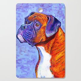 Colorful Brindle Boxer Dog Cutting Board