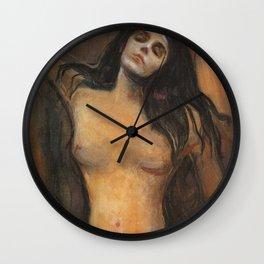 Edvard Munch Madonna 1894 Wall Clock