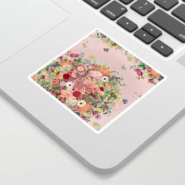 Vintage shell pink bouquet Sticker