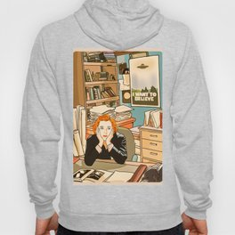 Dana Scully sit to the Fox Mulder's office Hoody