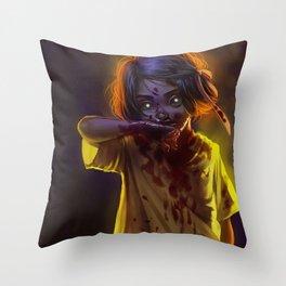 Vampire Girl (#Drawlloween2016 Series) Throw Pillow