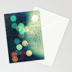 Rain and the city Stationery Cards