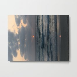 Sunset in Netanya, Israel Metal Print