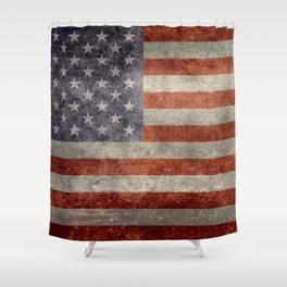 USA flag - Retro vintage Banner Shower Curtain