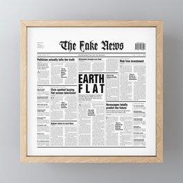 The Fake News Vol. 1, No. 1 Framed Mini Art Print