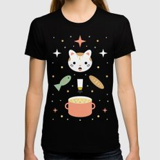 Star Kitten's Lunch  Black MEDIUM Womens Fitted Tee